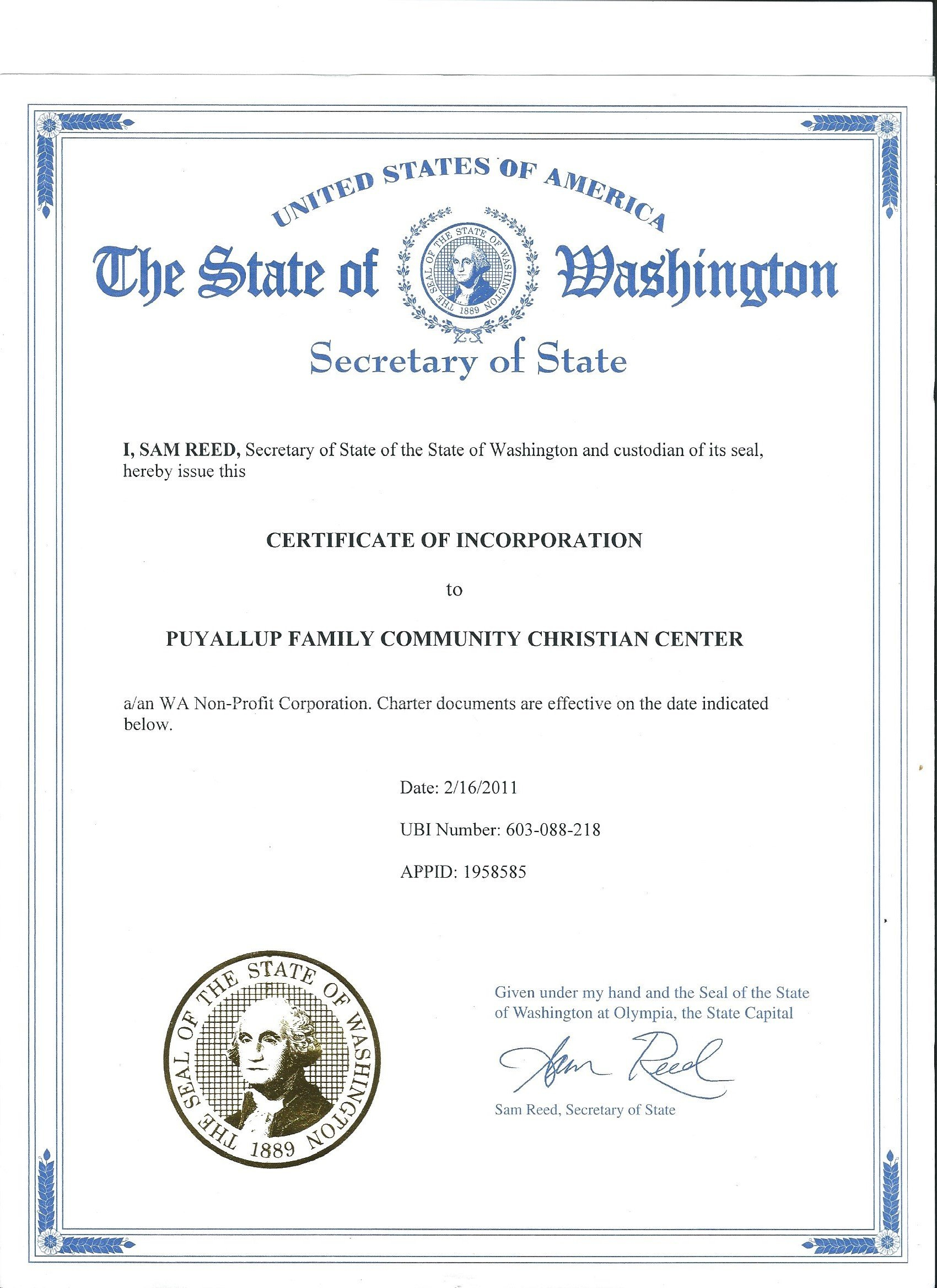 Contact In Olympia Business License