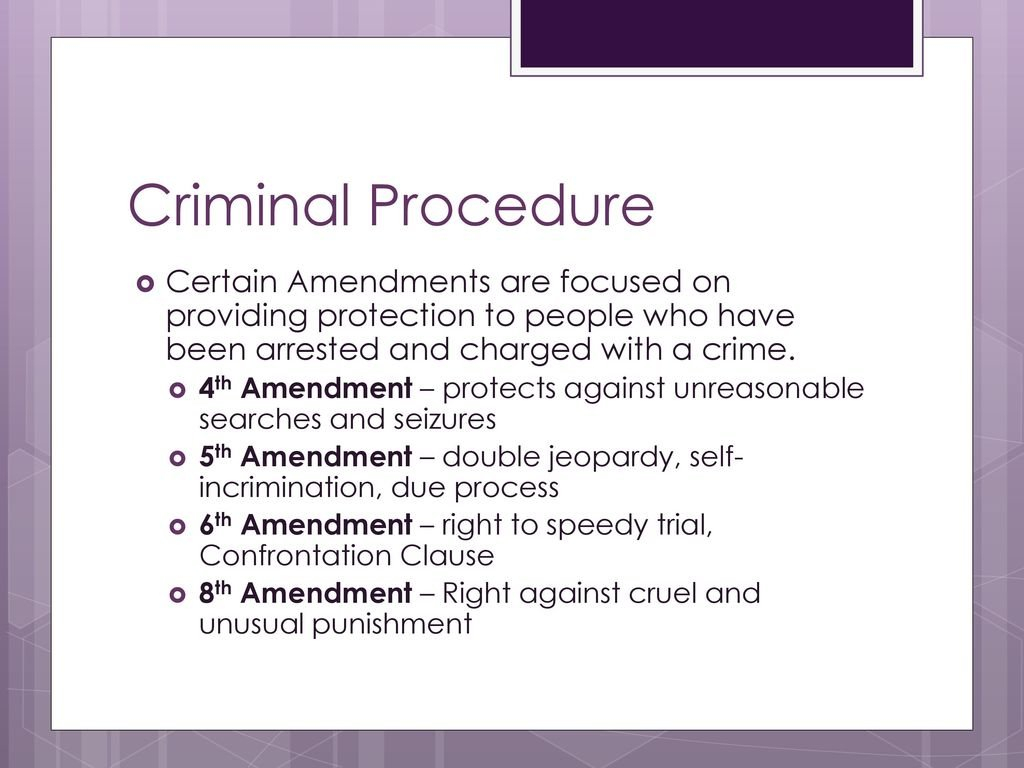 Criminal Law Constitutional Issues  Ppt Download Pertaining To Due Process In Criminal Proceedings Worksheet Answers