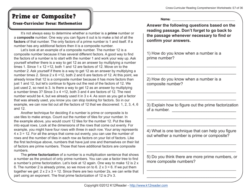 Crosscurricular Reading Comprehension Worksheets And Cross Curricular Reading Comprehension Worksheets