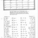 Cryptic Quiz Math Worksheet Answers  Briefencounters Intended For Cryptic Quiz Math Worksheet Answers