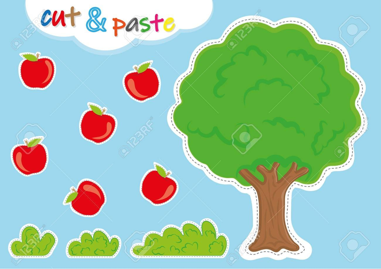 Cut And Paste Activities For Kindergarten Preschool Cutting Along With Cut And Paste Worksheets For Kindergarten