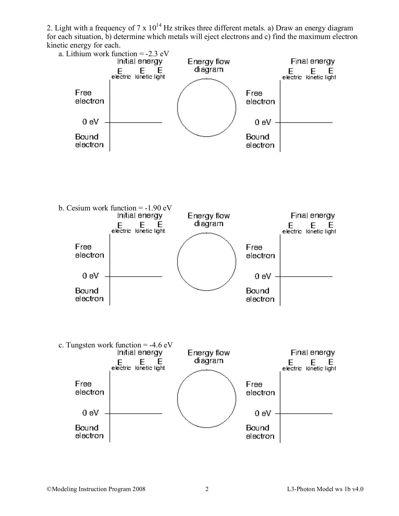 Date Pd Worksheet 1B Quantitative Photoelectric Effect Pages 1  3 Together With Electron Energy And Light Worksheet Answers