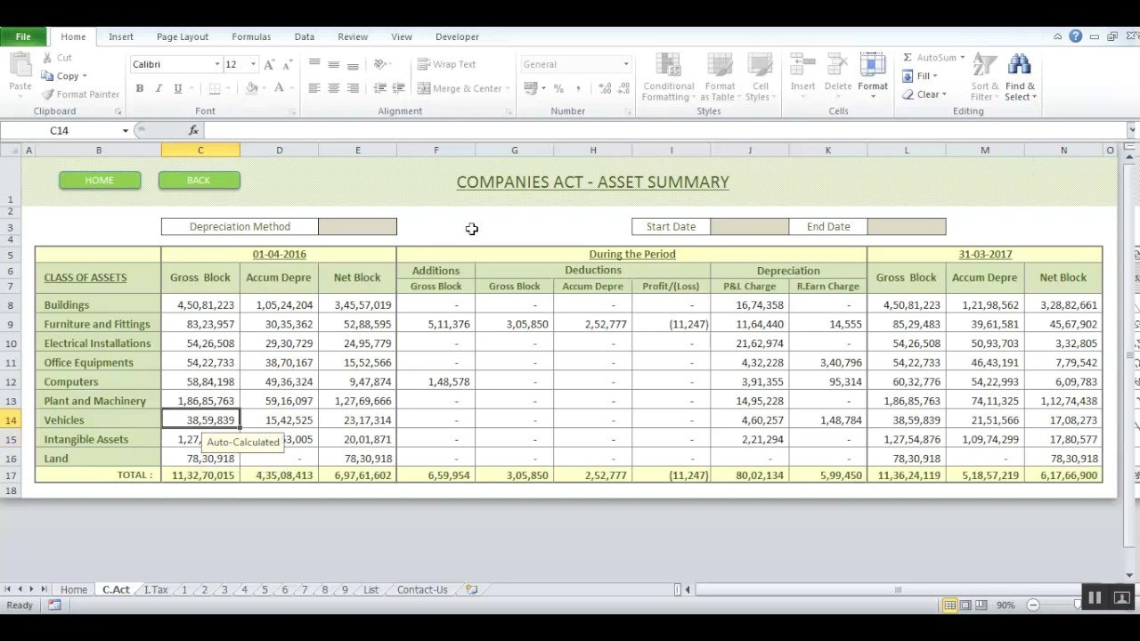 Depreciation Cum Fixed Asset Software   Youtube Or Fixed Asset Depreciation Excel Spreadsheet