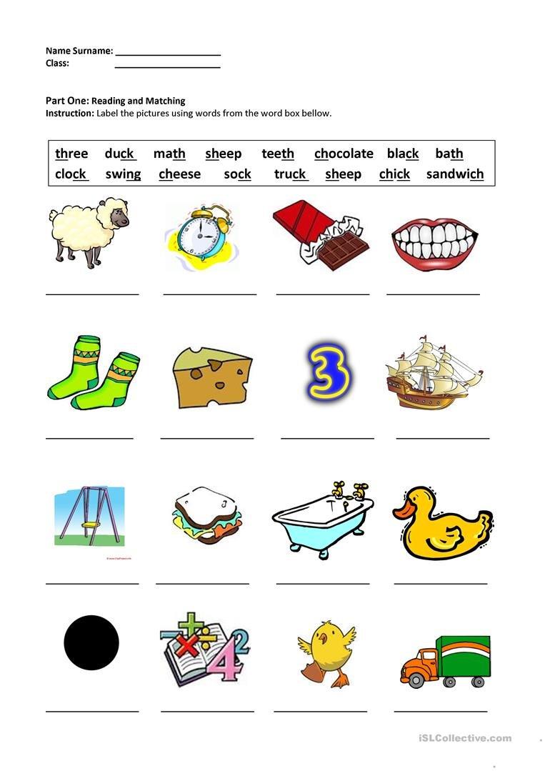 Digraphs Shchthckng Worksheet  Free Esl Printable Worksheets As Well As Th Worksheets Printable