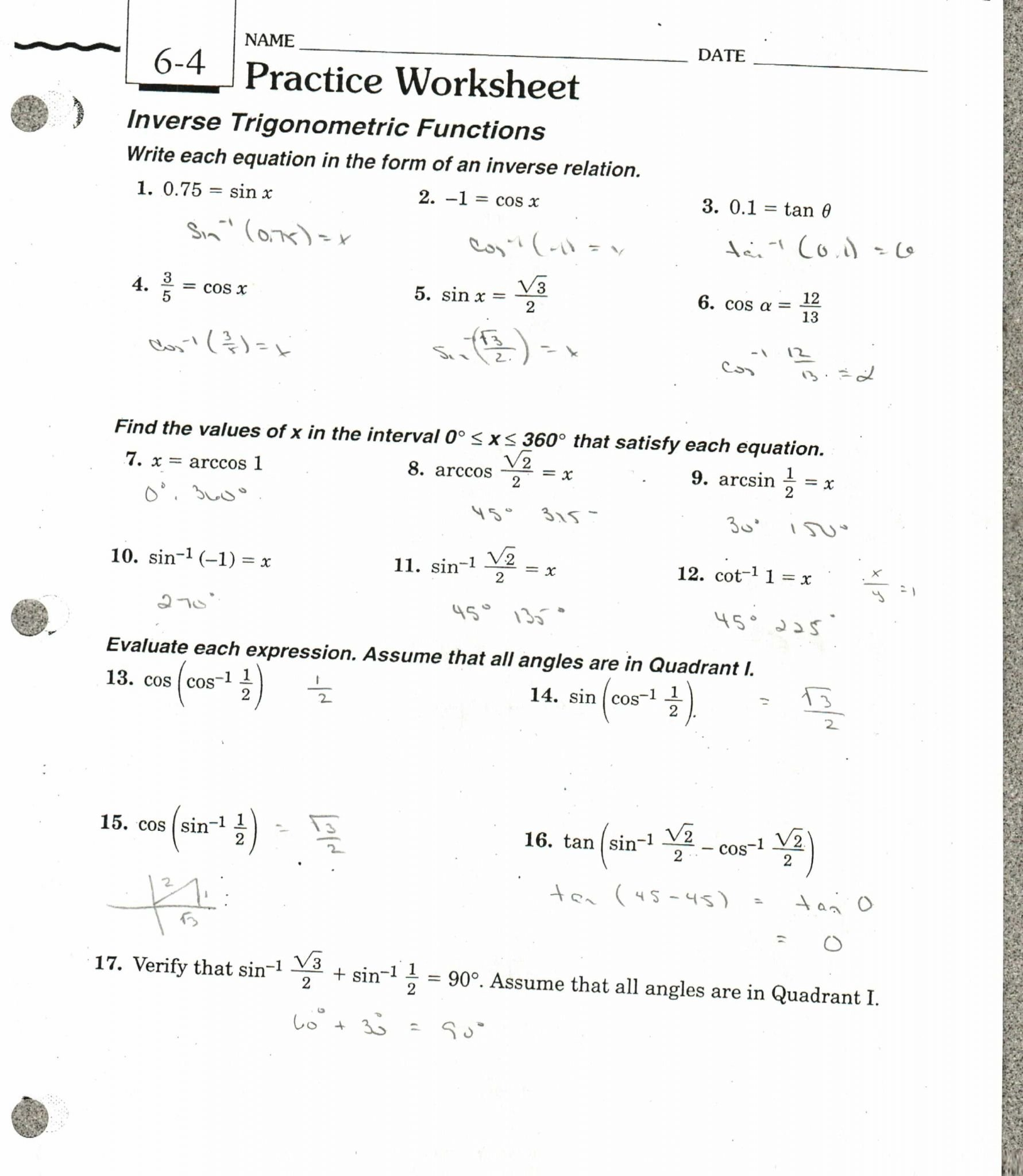 Direct And Inverse Variation Worksheet Answers  Coastalbend Worksheet Intended For Inverse Function Word Problems Worksheet