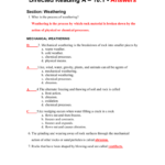 Directed Reading Worksheets Physical Science Answers Math In Physical Science Worksheets