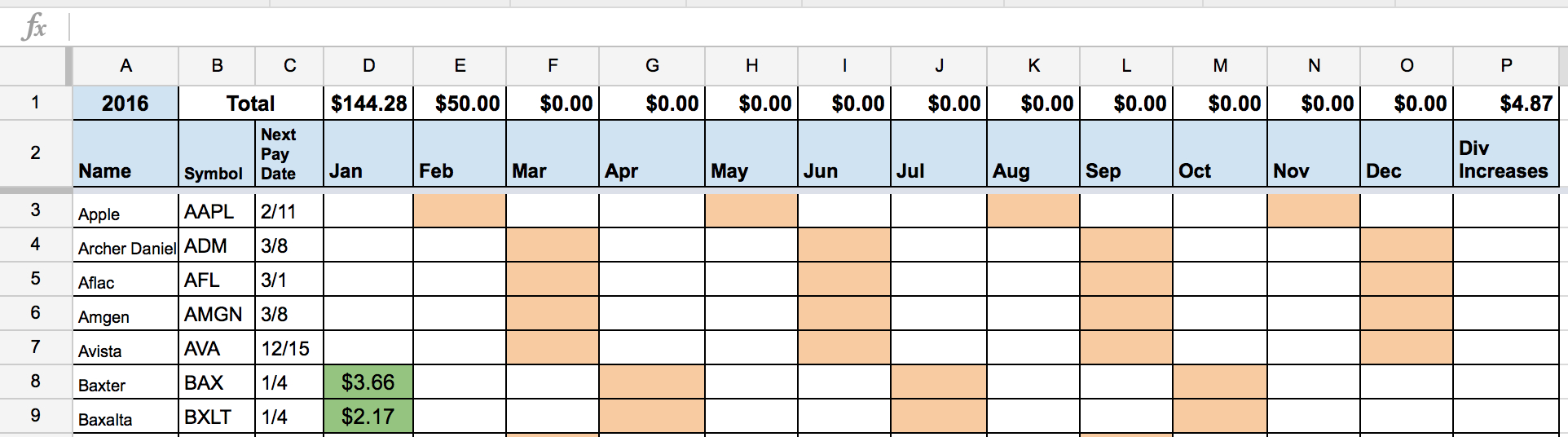 Dividend Stock Portfolio Spreadsheet On Google Sheets – Two Investing Regarding Dividend Spreadsheet Templates