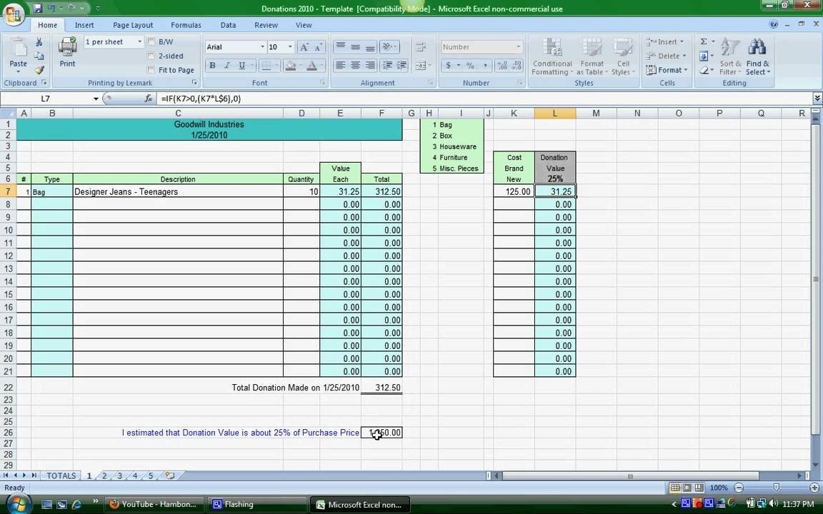 Donation Spreadsheet Instructions   Youtube Throughout Donation Spreadsheet Template