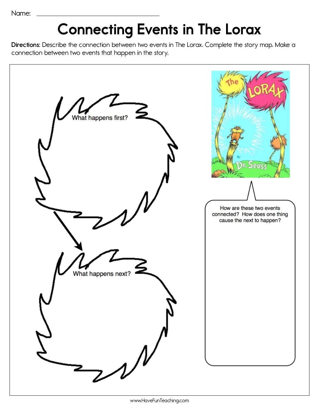 Dr Seuss Worksheets  Have Fun Teaching For The Lorax By Dr Seuss Worksheet