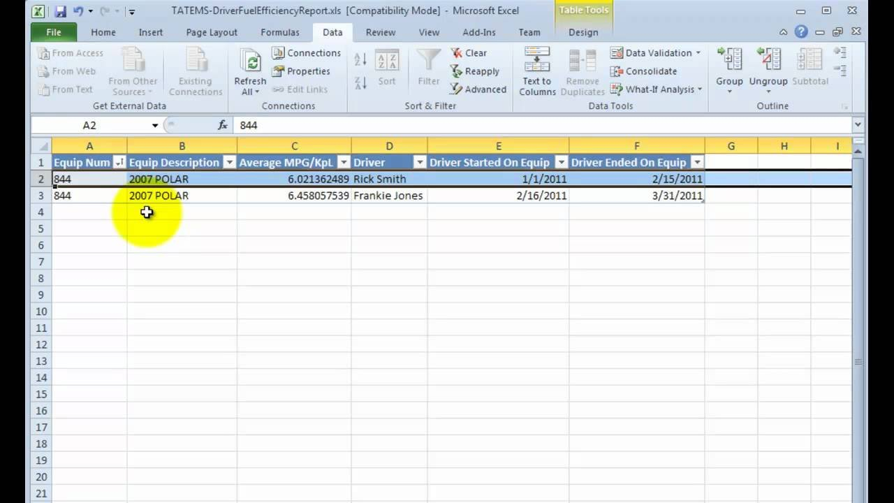 Driver Fuel Efficiency Spreadsheet Report   Youtube Together With Fuel Spreadsheet