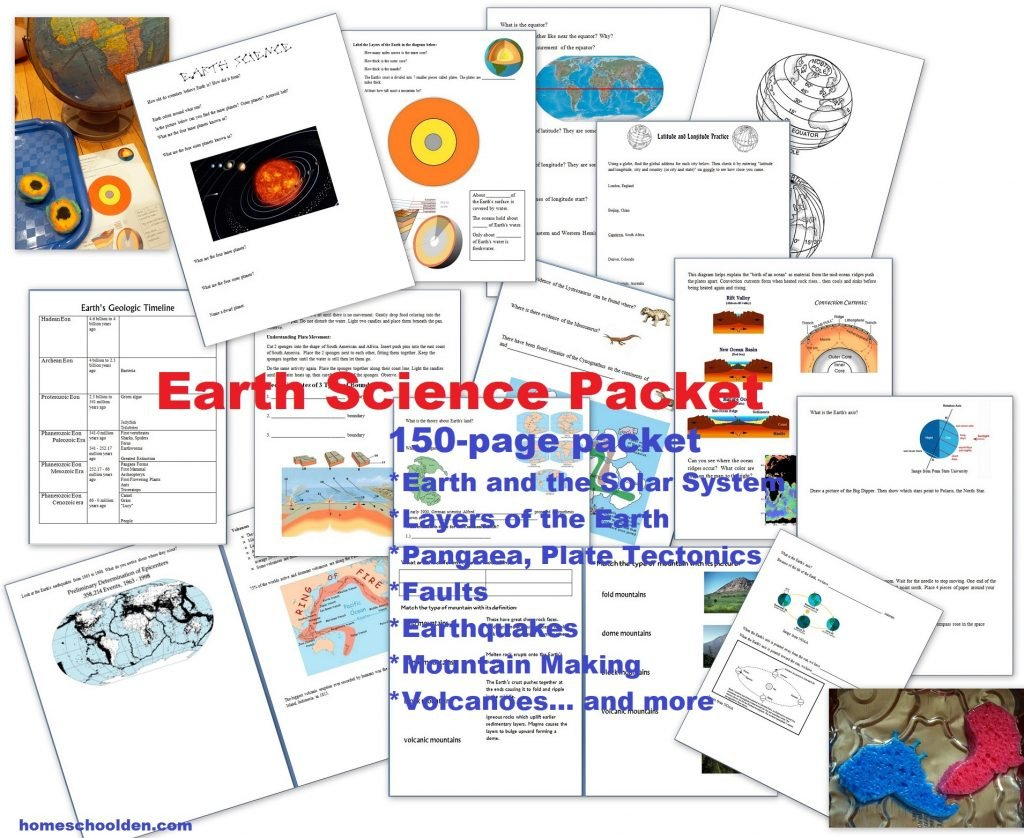 Earth Science Packet Layers Of The Earth Plate Tectonics And Layers Of The Earth Worksheets Middle School