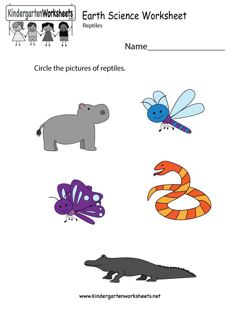 Earth Science Worksheet  Free Kindergarten Learning Worksheet For Kids Also Science Worksheets For Kids