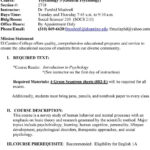 El Camino College Course Syllabus Fall Pdf Within Crash Course Psychology Worksheets