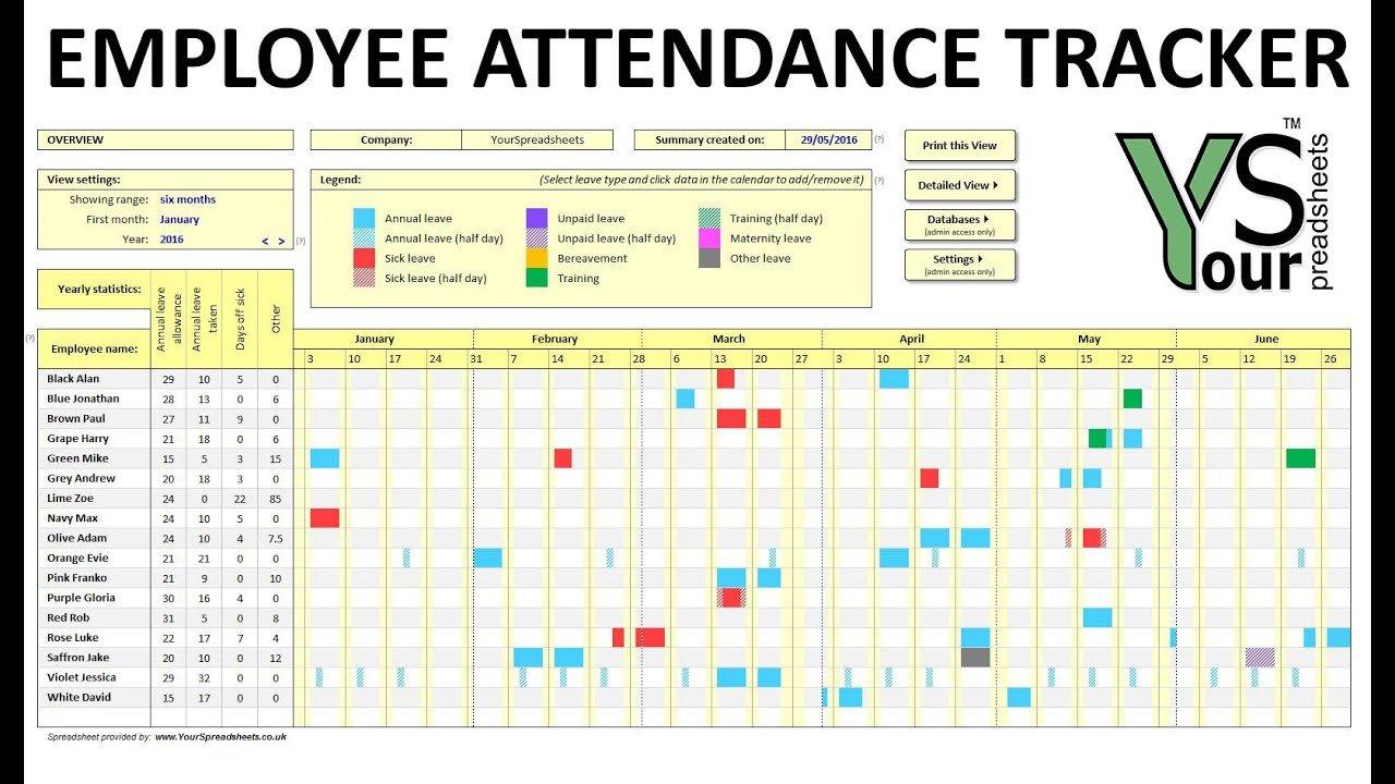 Employee Attendance Tracker Spreadsheet With Regard To Leave Tracking Spreadsheet