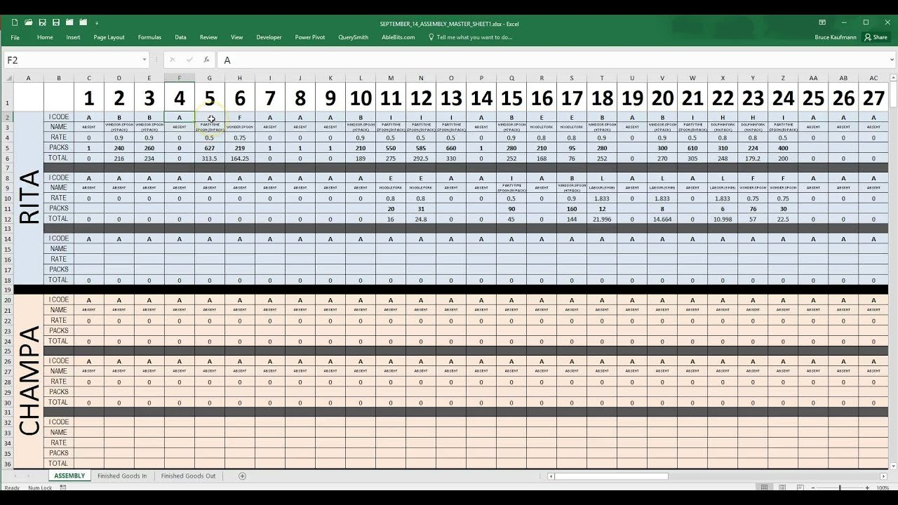 Employee Daily Production Tracking Tool   Youtube Along With Employee Production Tracking Spreadsheet