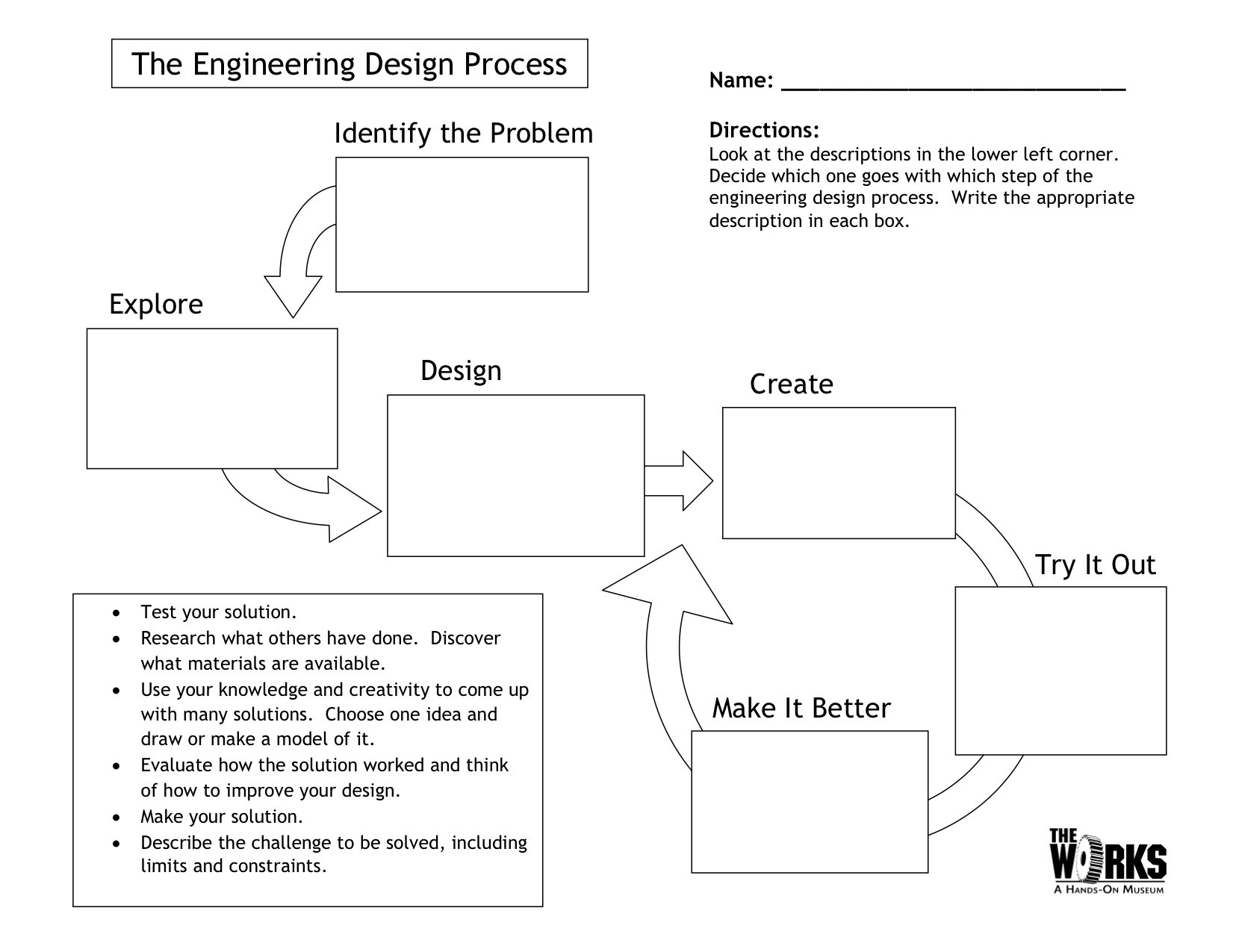 Engineering Design Process Worksheet  Yooob Inside Engineering Design Process Worksheet Pdf
