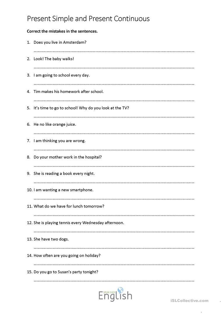 English Esl Grammar Correction Worksheets  Most Downloaded 6 Results Also Grammar Correction Worksheets