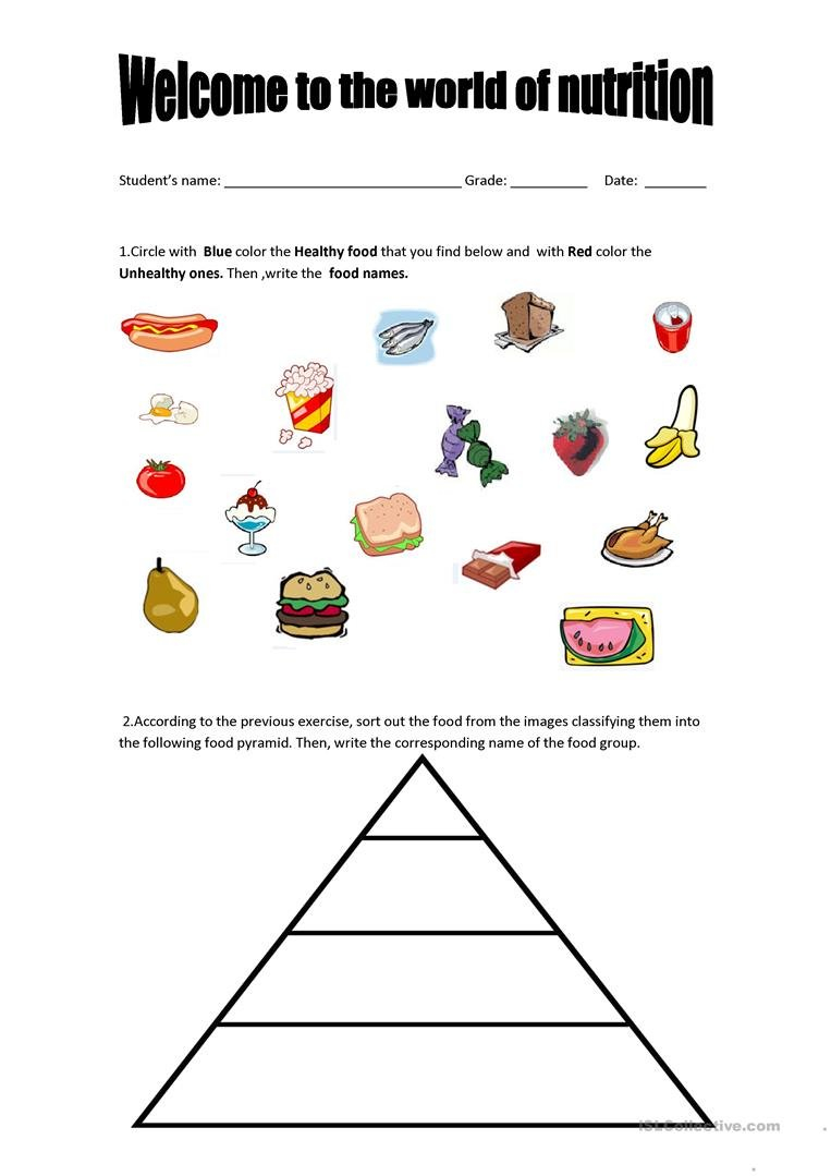 English Esl Nutrition Worksheets  Most Downloaded 12 Results Along With Nutrition Worksheets For High School