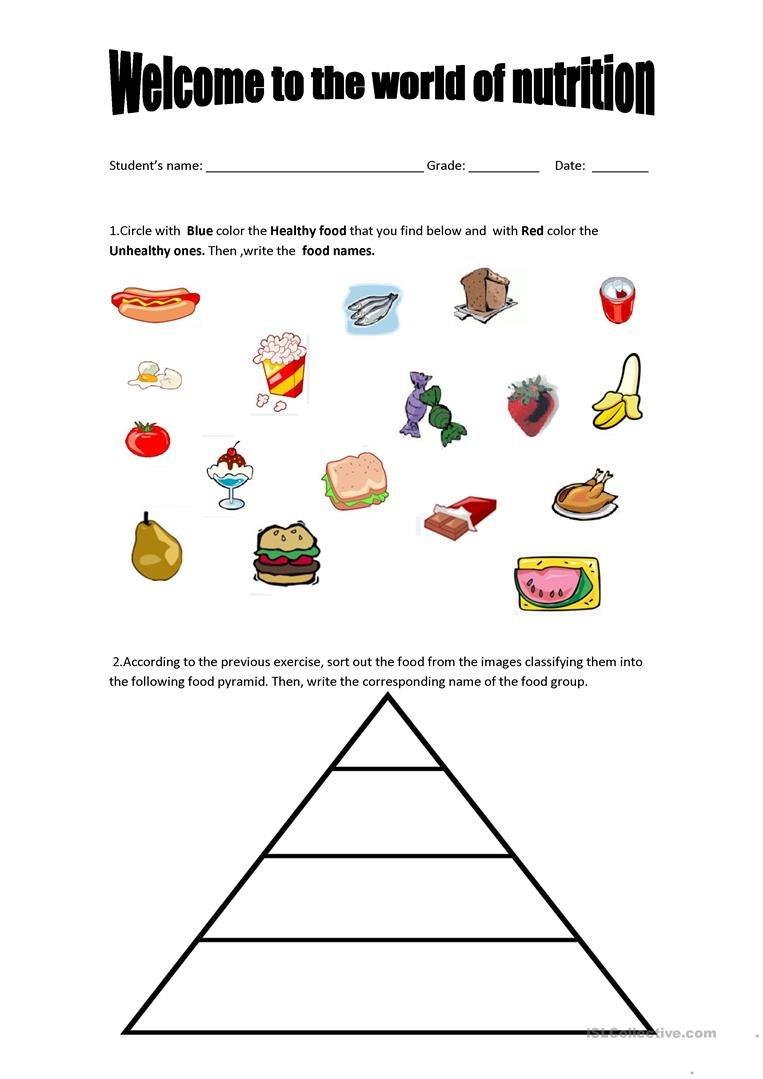 English Esl Nutrition Worksheets  Most Downloaded 12 Results With Regard To Nutrition Worksheets Pdf