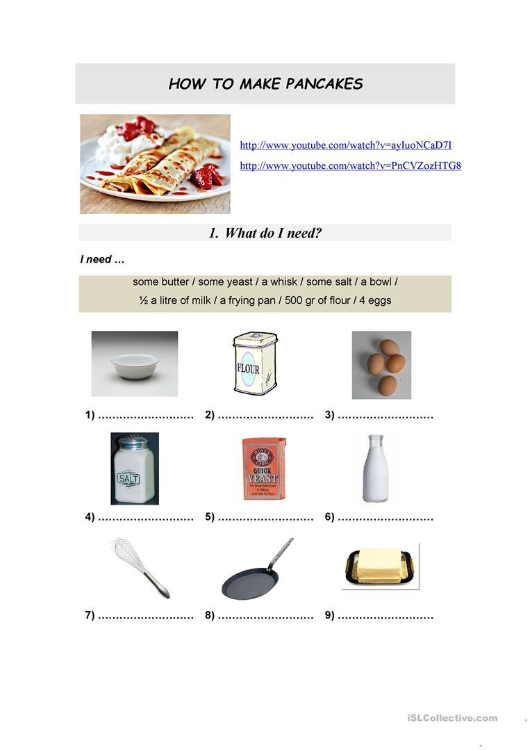 English Esl Recipe Worksheets  Most Downloaded 104 Results Or Reading A Recipe Worksheet