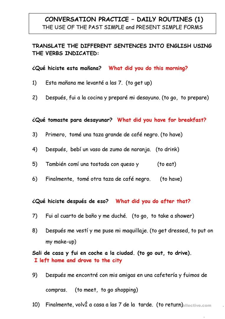 English Esl Translate Worksheets  Most Downloaded 11 Results Pertaining To Spanish To English Worksheets