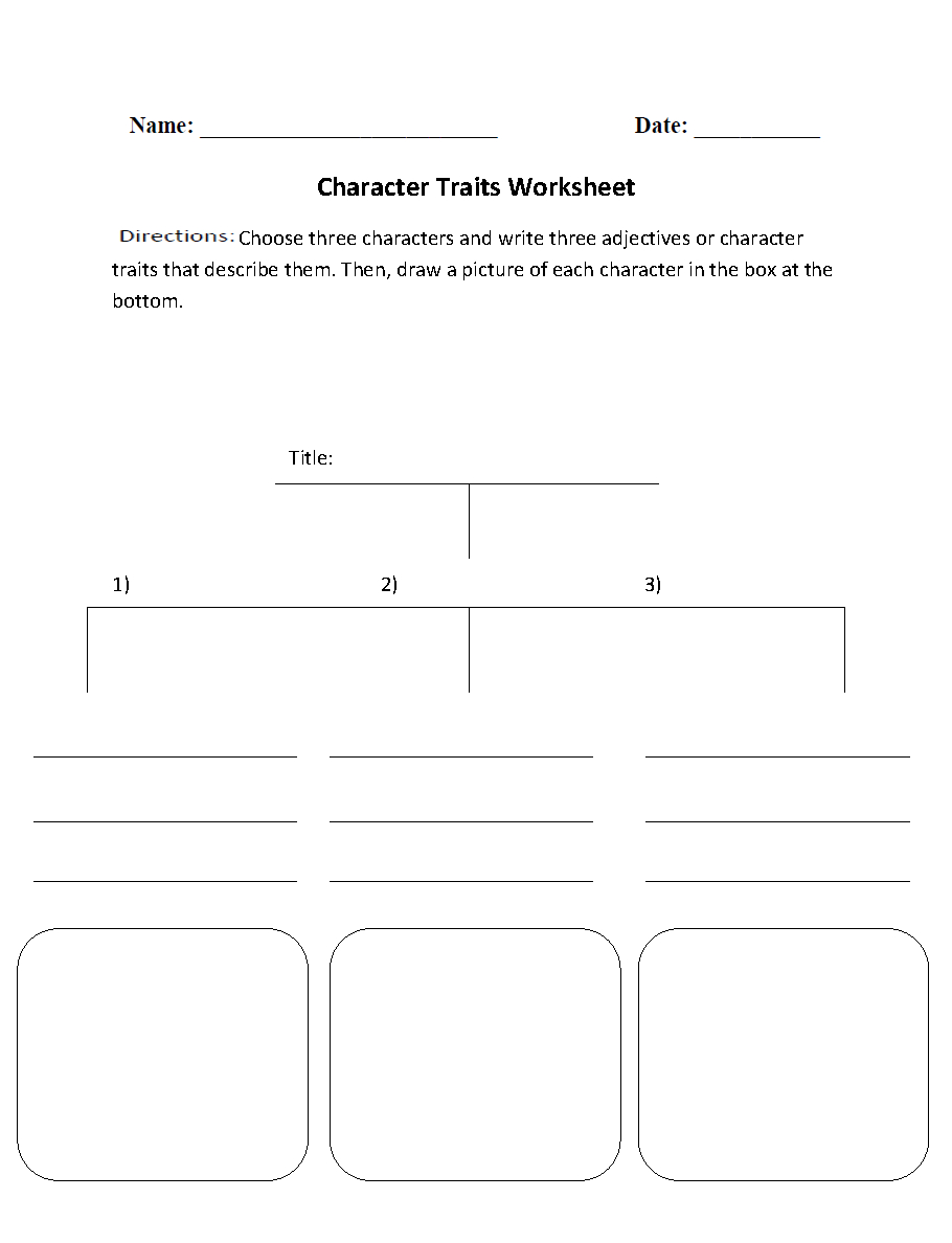 Englishlinx  Character Analysis Worksheets Pertaining To Free Printable Character Education Worksheets Middle School
