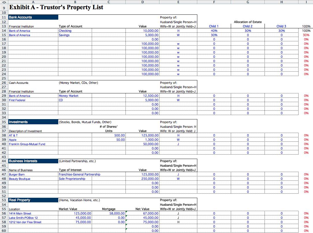 Estate Executor Spreadsheet   Laobing Kaisuo In Executor Accounting Spreadsheet