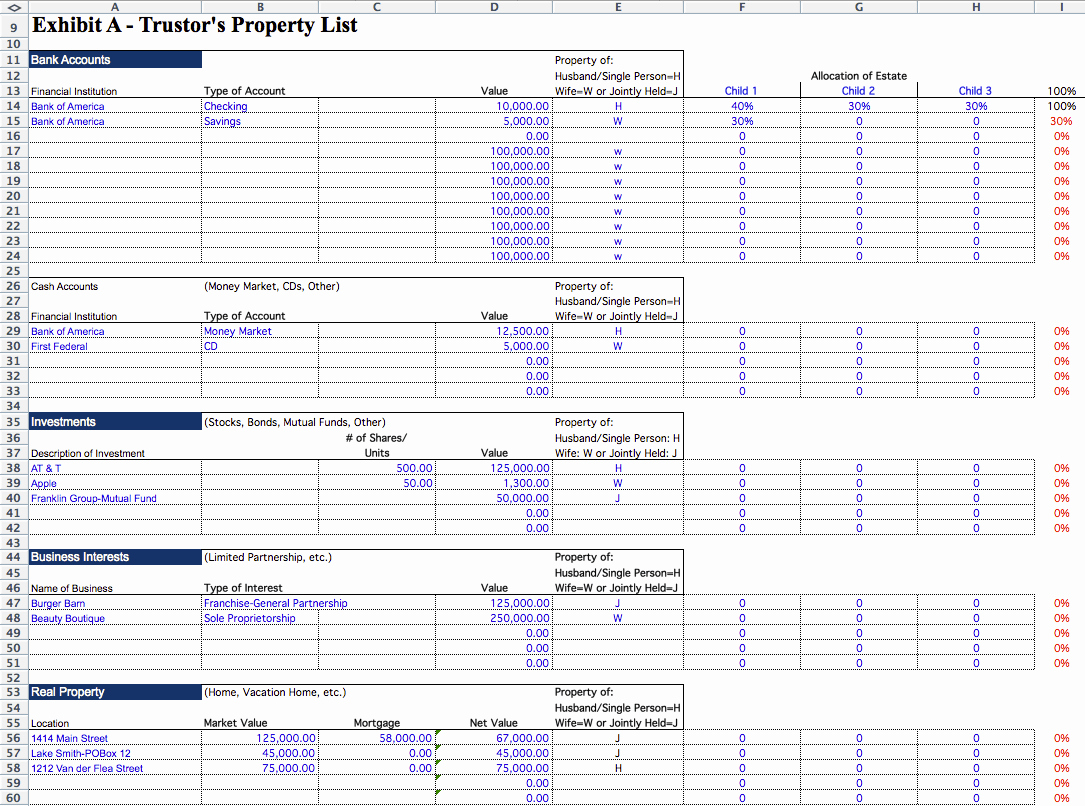 Estate Planning Worksheet Template Best Of Estate Planning In Estate Planning Worksheet Template