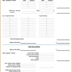 Example Bank Reconciliation Template Of Spreadsheet Checking Account Intended For Checking Account Worksheets For Students