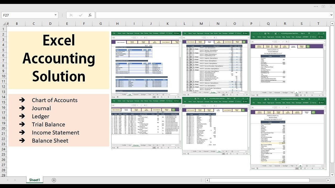 Excel Accounting Solution   Template   Youtube Throughout Excel Templates For Accounting