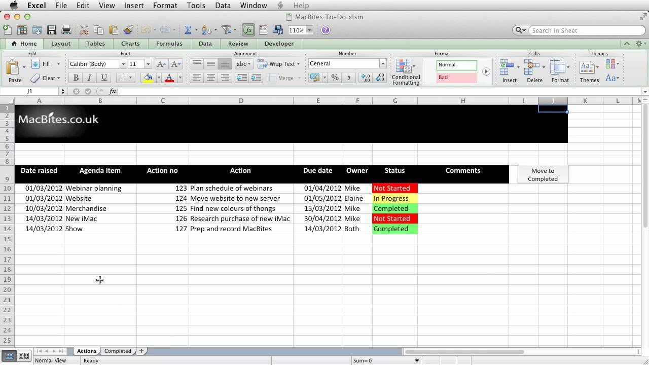 Excel   An Automated Action Tracker   Youtube Pertaining To Document Tracking System Excel