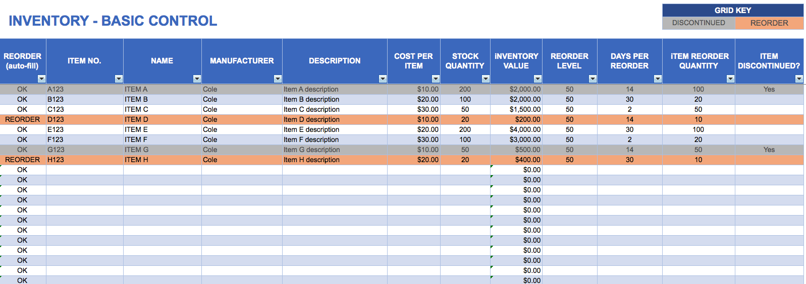 Excel Inventory Tracking Spreadsheet Template   Demir.iso Consulting.co Also Inventory Control Spreadsheet Template