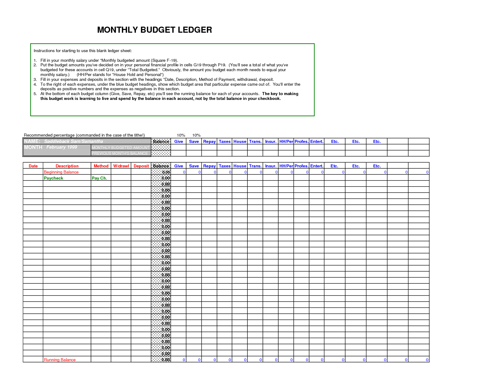 Excel Ledger Templates   Demir.iso Consulting.co As Well As Excel Accounting Templates General Ledger