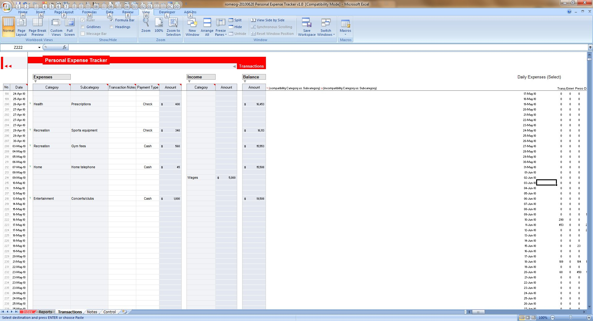 Excel Readsheet For Budget Tracking Family Template Ending Money ... And How To Track Expenses In Excel
