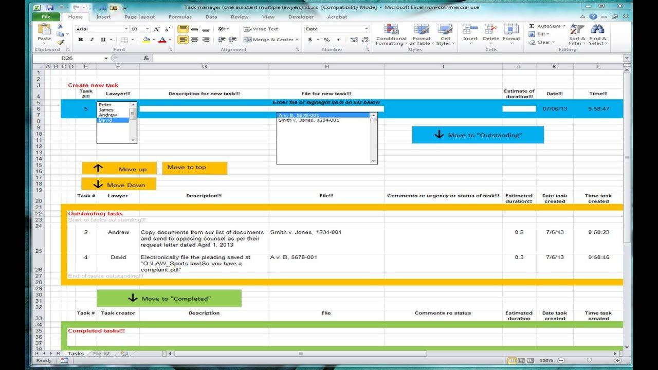 Excel Spreadsheet For Tracking Tasks (Shared Workbook)   Youtube As Well As Excel Spreadsheet For Tracking Tasks