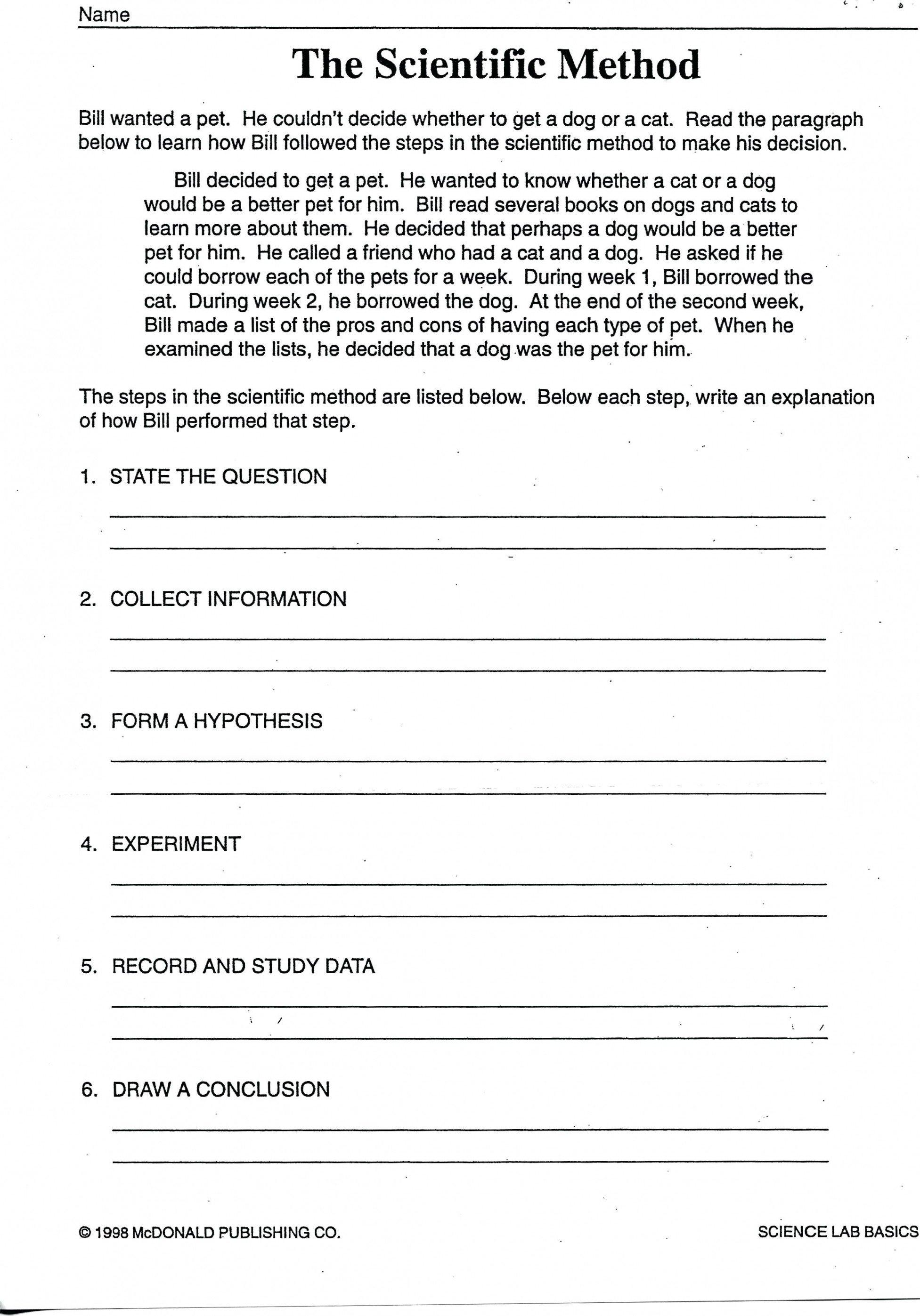 Experimental Design Worksheet Scientific Method  Newatvs For Experimental Design Worksheet Scientific Method