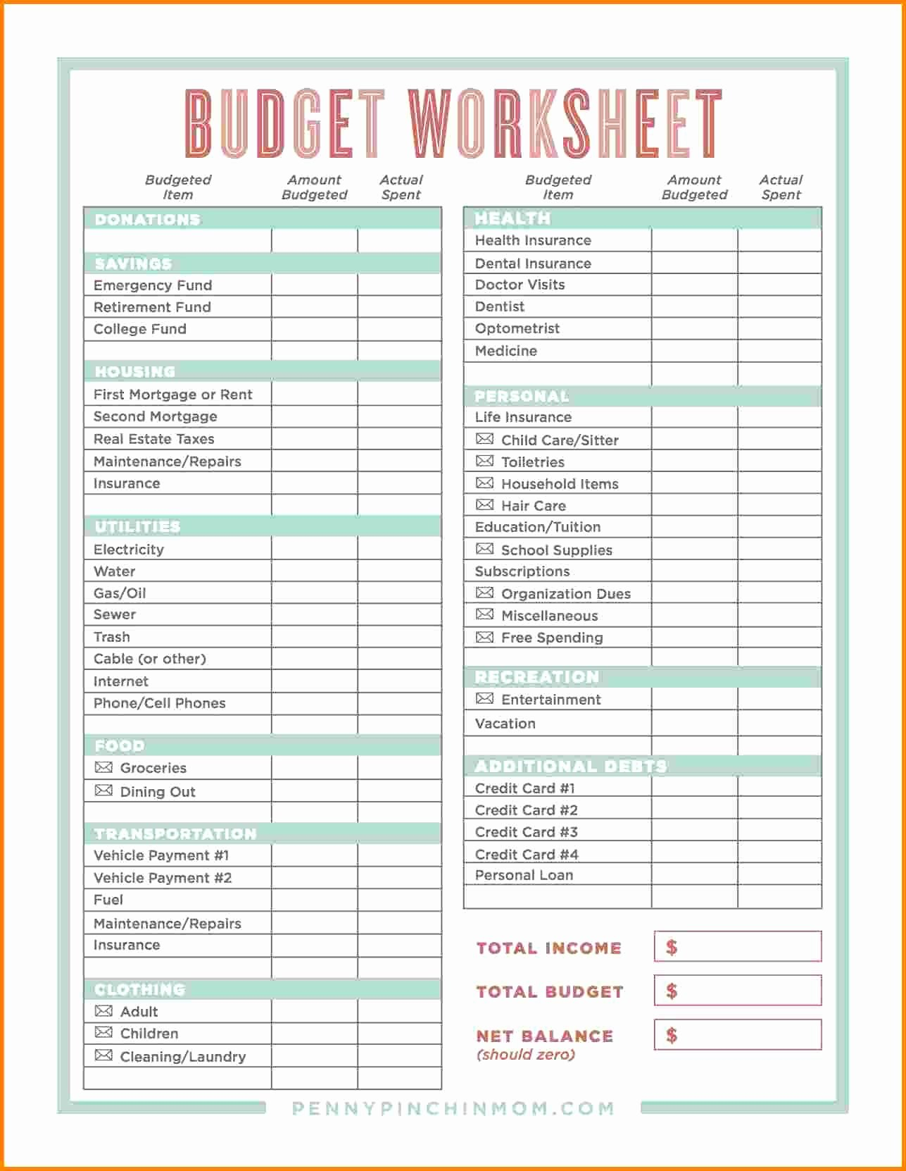 Family Budget Template Spreadsheetles Worksheet For College Students In Printable Budget Worksheet For College Students