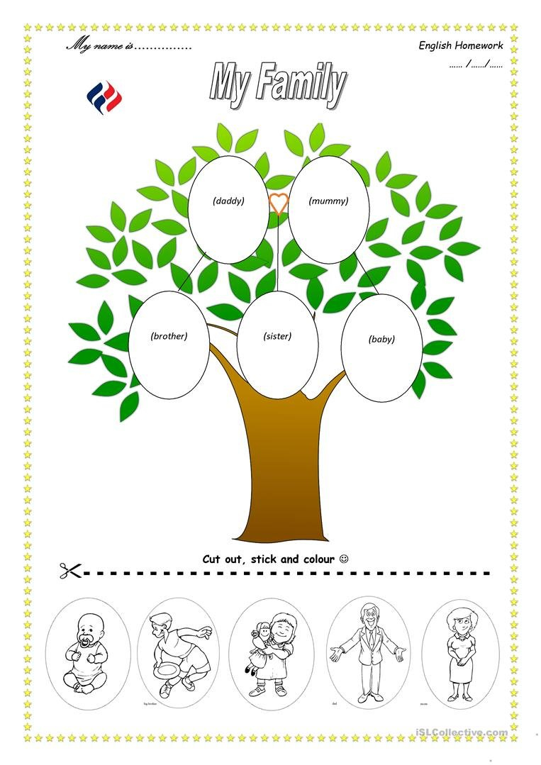 Family Tree Worksheet  Free Esl Printable Worksheets Madeteachers Within Family Tree Worksheet Printable