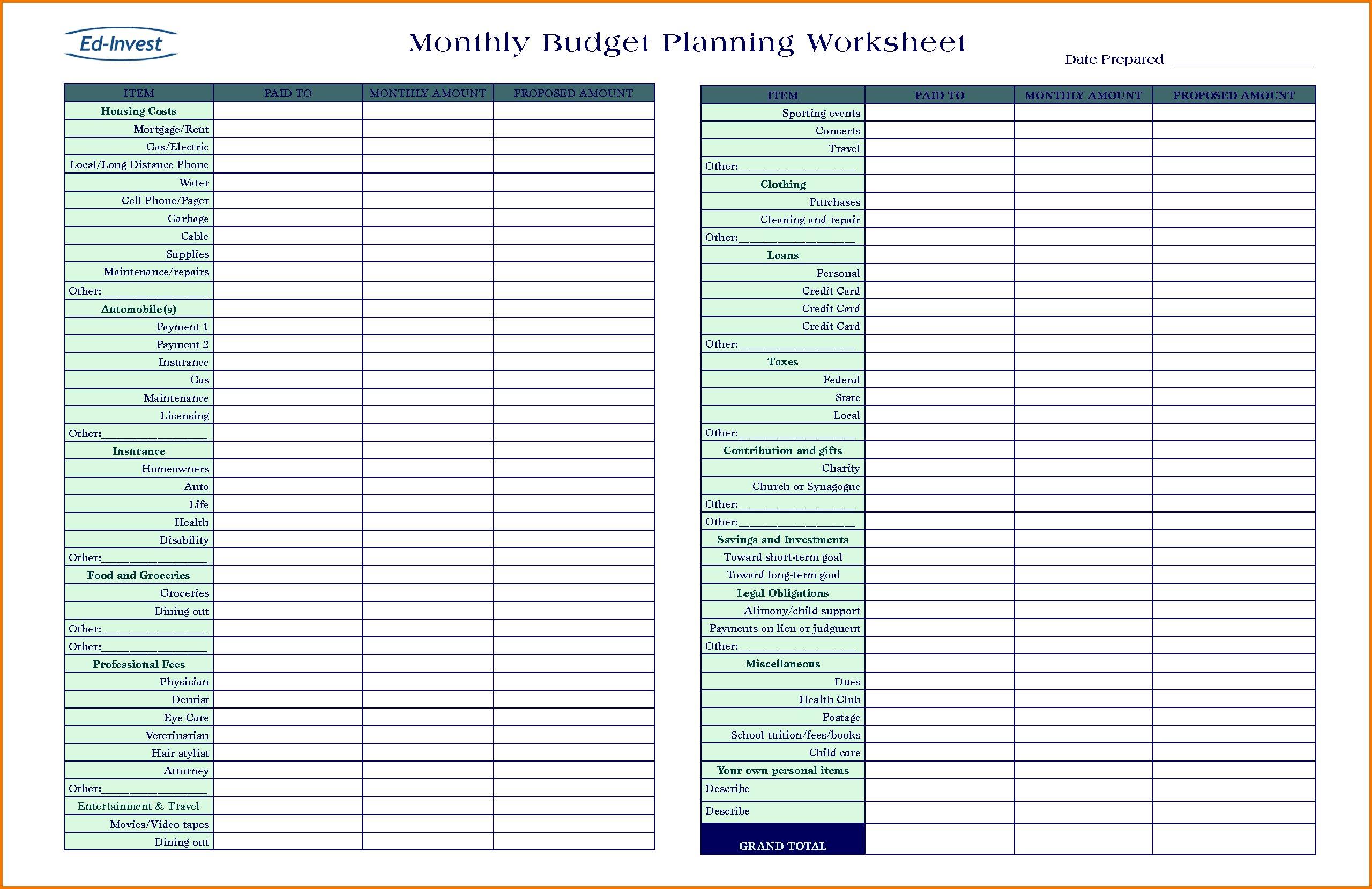 Financial Planning Worksheets  Soccerphysicsonline With Regard To Turbotap Financial Planning Worksheet
