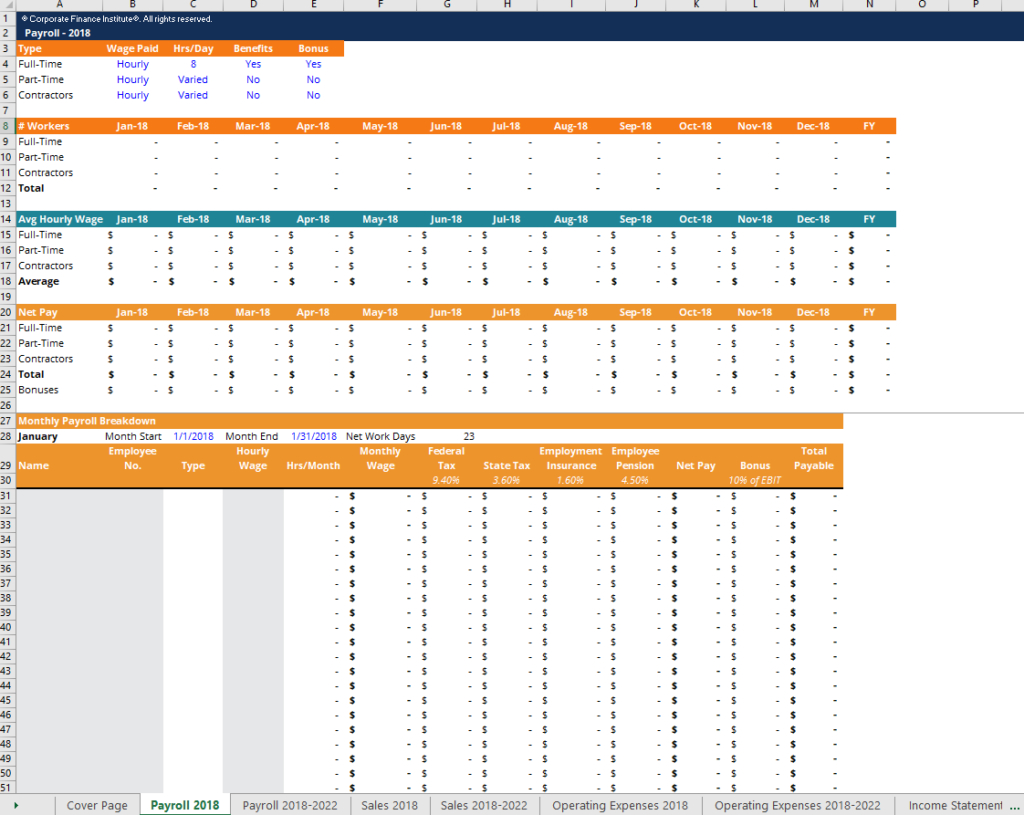 Financial Projection Template  Download Free Excel Template In Financial Worksheet Template