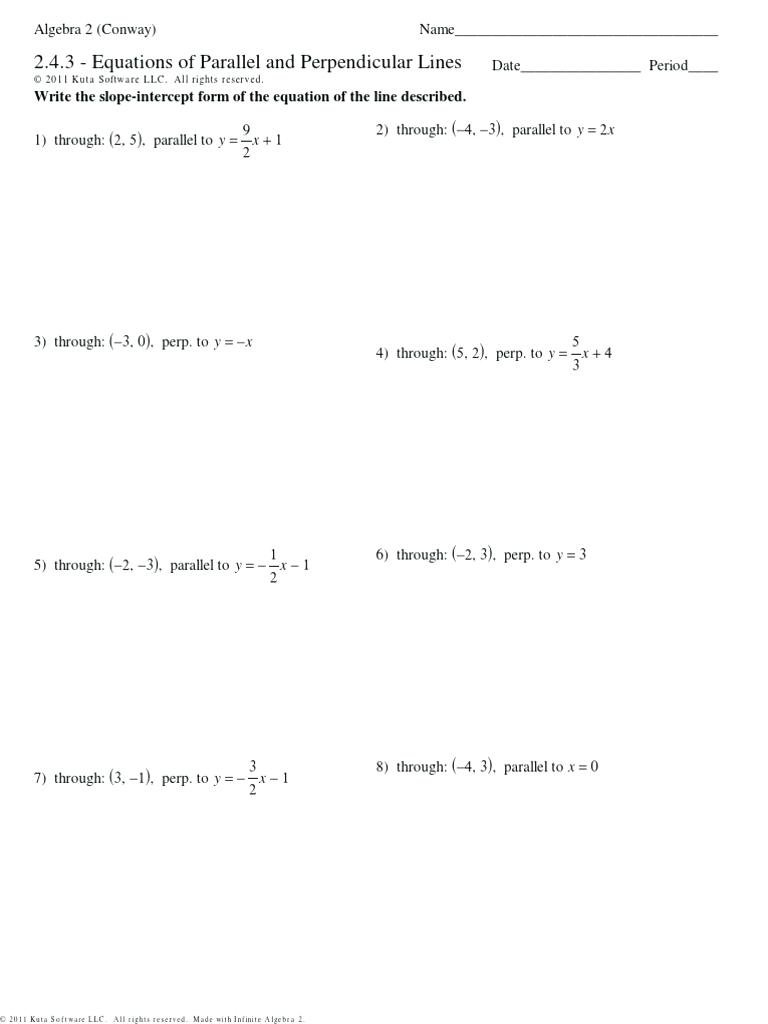 Find Equation Of Line Perpendicular Math – Ewbaseballclub Pertaining To Equations Of Lines Worksheet Answer Key