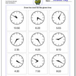 Five Minute Intervals Or Time To The Minute Worksheets