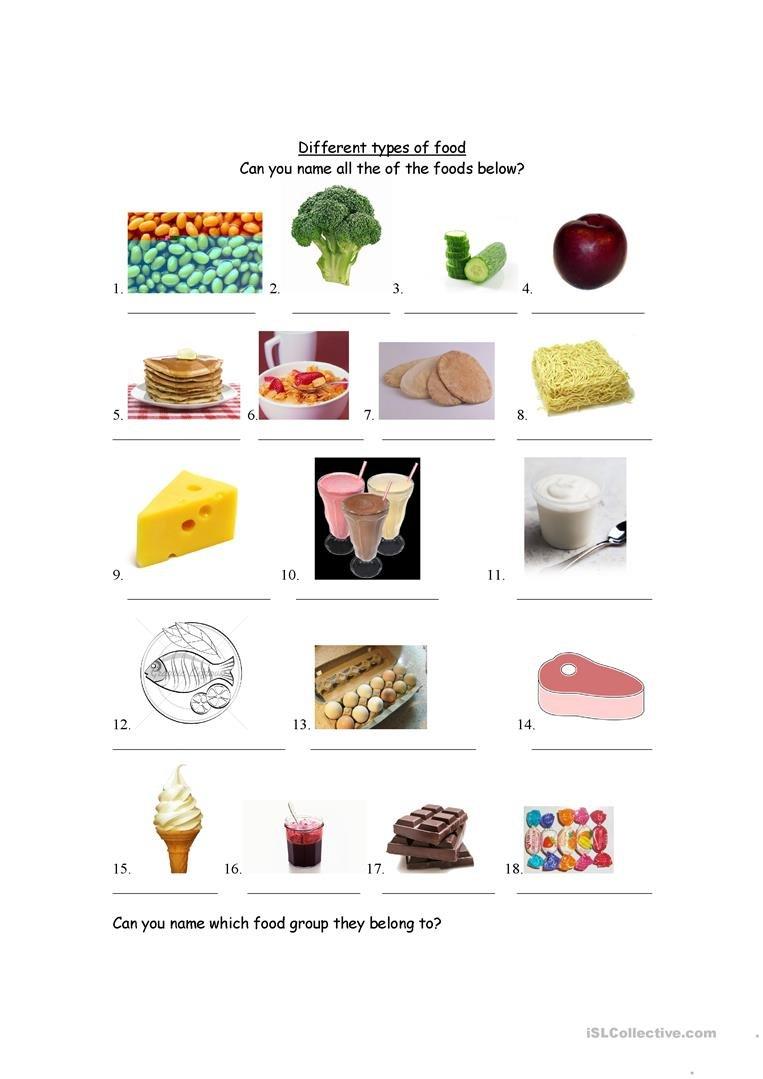 Food Groups Worksheet  Free Esl Printable Worksheets Madeteachers For Food Groups Worksheets