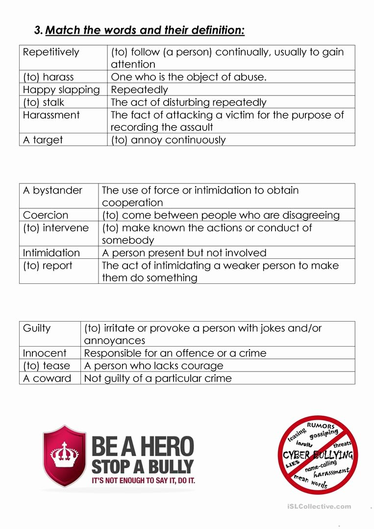 For Printable Bullying Worksheets – Diocesisdemonteria As Well As Free Printable Bullying Worksheets