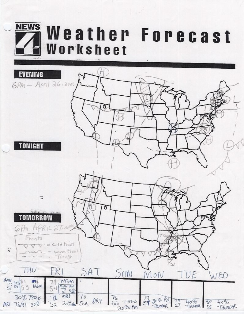 Forecasting Weather Map Worksheet 1 Answers  Geotwitter Kids Activities Along With Forecasting Weather Map Worksheet 1 Answers