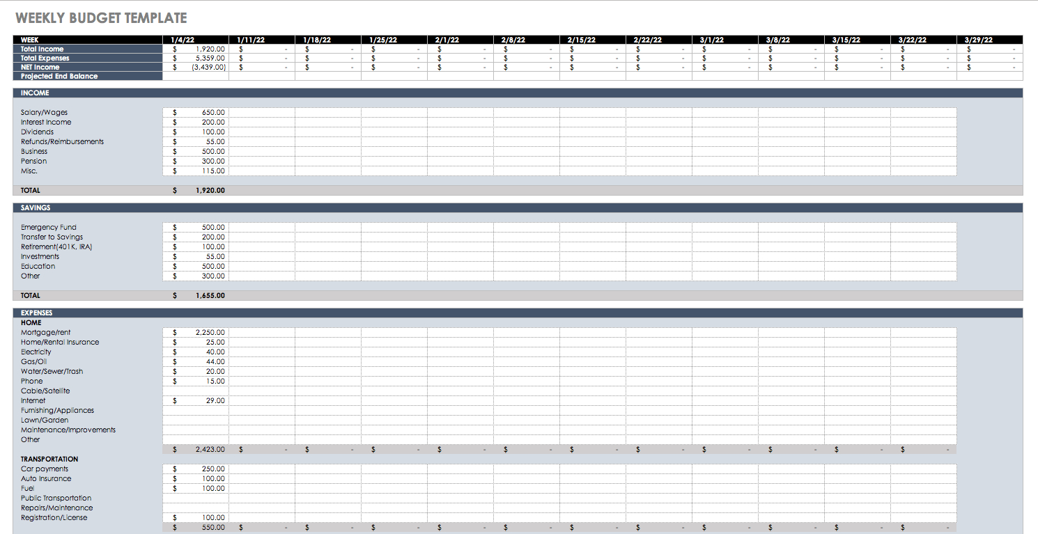 Free Budget Templates In Excel For Any Use And Sample Budget Spreadsheet Excel