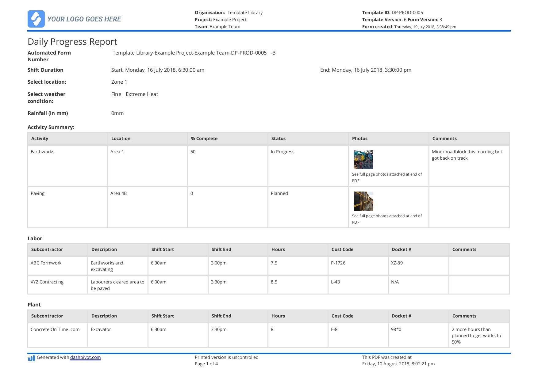 Free Construction Daily Report Template (Better Than Pdf, Excel, Word) As Well As Construction Work In Progress Spreadsheet