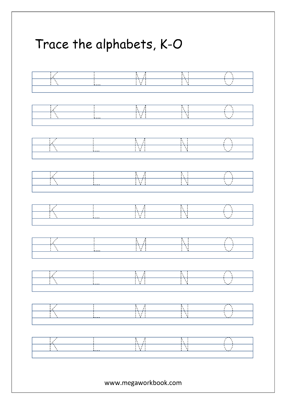 Free English Worksheets  Alphabet Tracing Capital Letters Inside Printable Letter Tracing Worksheets