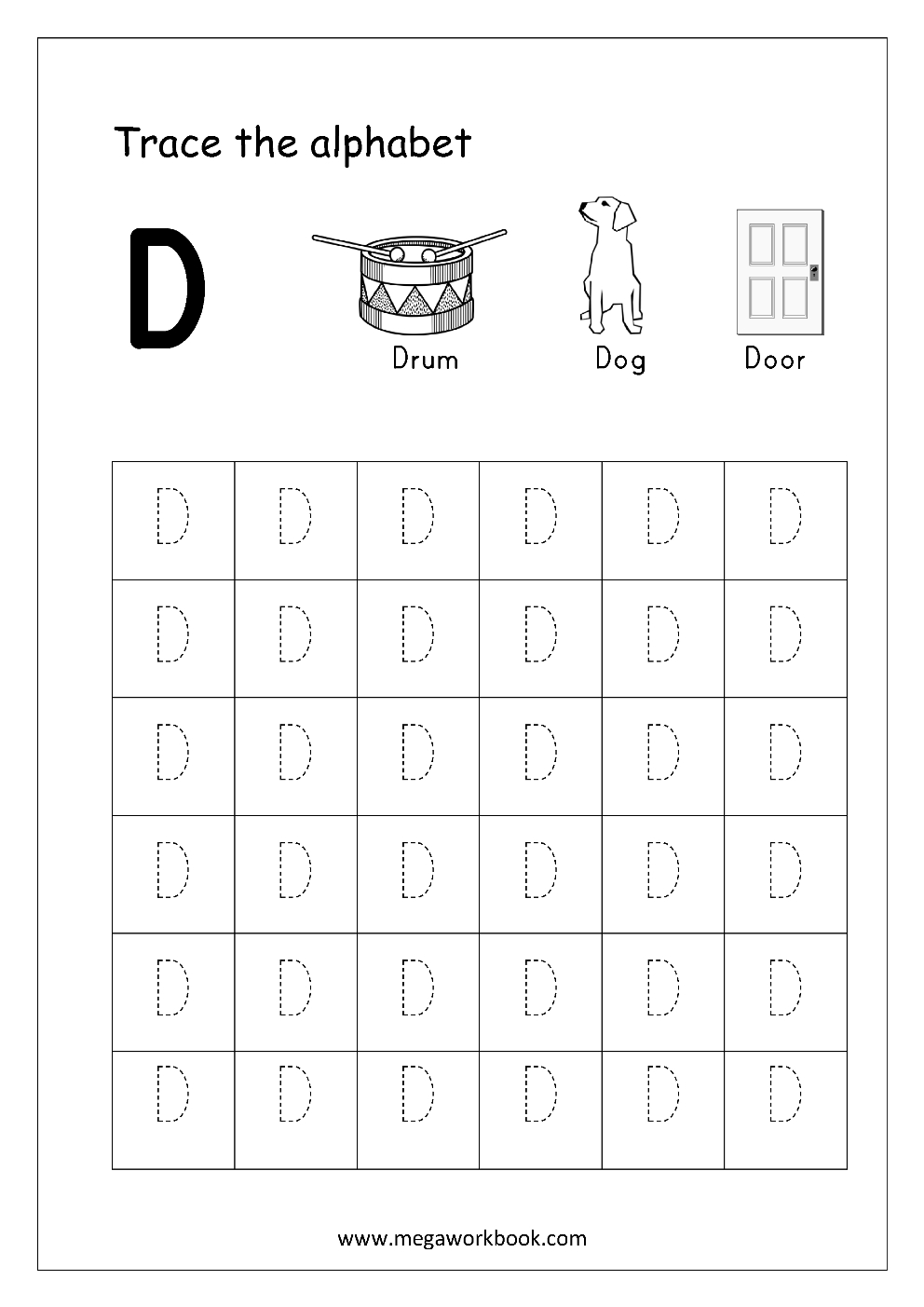 Free English Worksheets  Alphabet Tracing Capital Letters Within Alphabet Tracing Worksheets Pdf