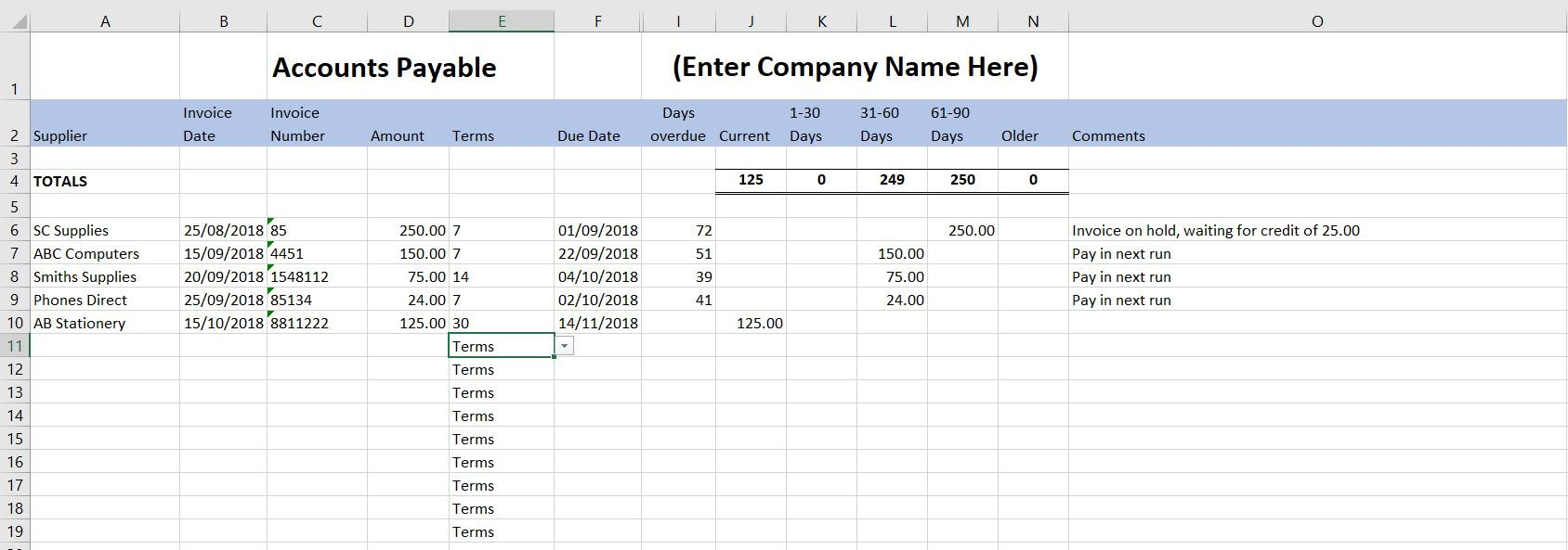 Free Excel Bookkeeping Templates   12 Accounts Spreadsheets In Convenience Store Accounting Spreadsheet